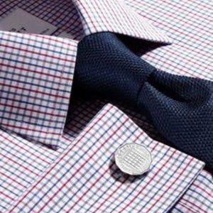 Charles Tyrwhitt Multi Check Shirt French Cuff NEW